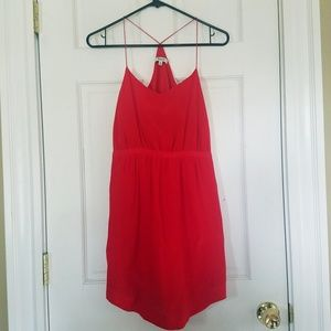 Madewell Silk Starview Red Cami Dress